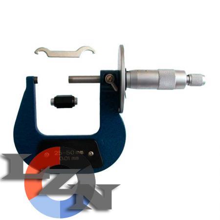 Микрометр листовой МЛ-75 0,01 - фото