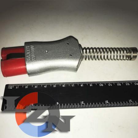 Разъем двухконтактный термостойкий (ZA727Si)-TX1004 - фото №2